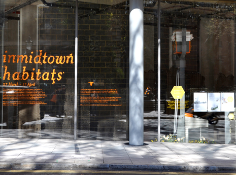 Inmidtown Habitats    Branding & exhibition design for a competition run by The Architecture Foundation.