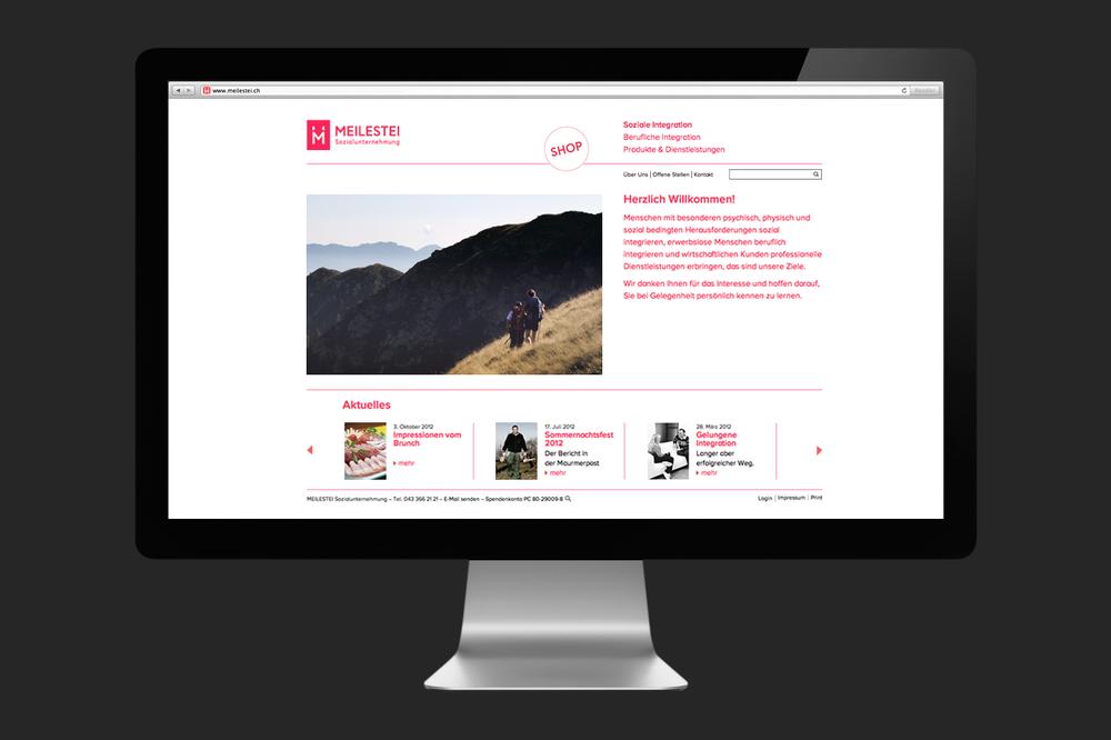 Meilestei Corporate Website
