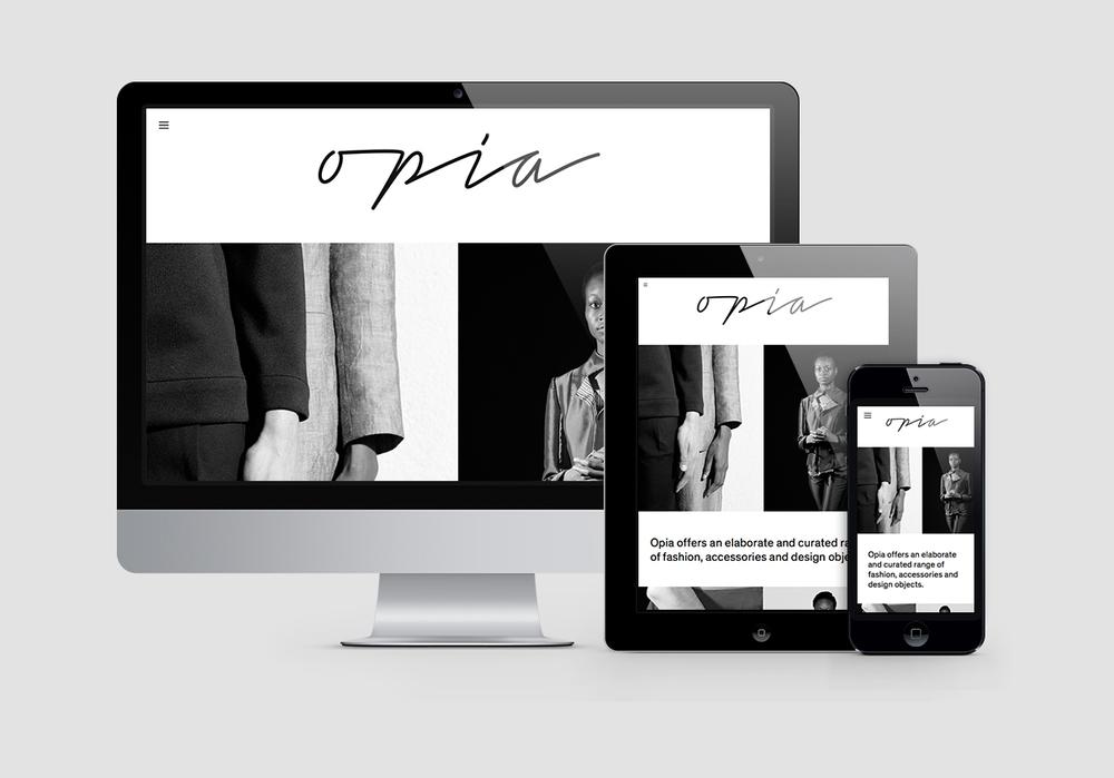 Responsive Website Opia Concept Store