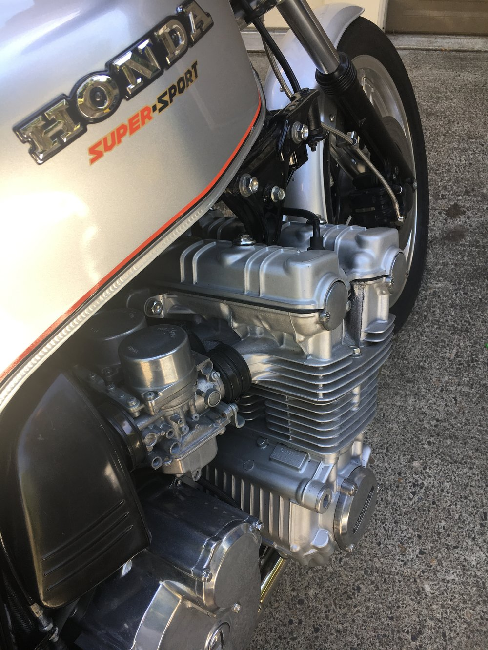 The Honda CBX engine always makes a statement.