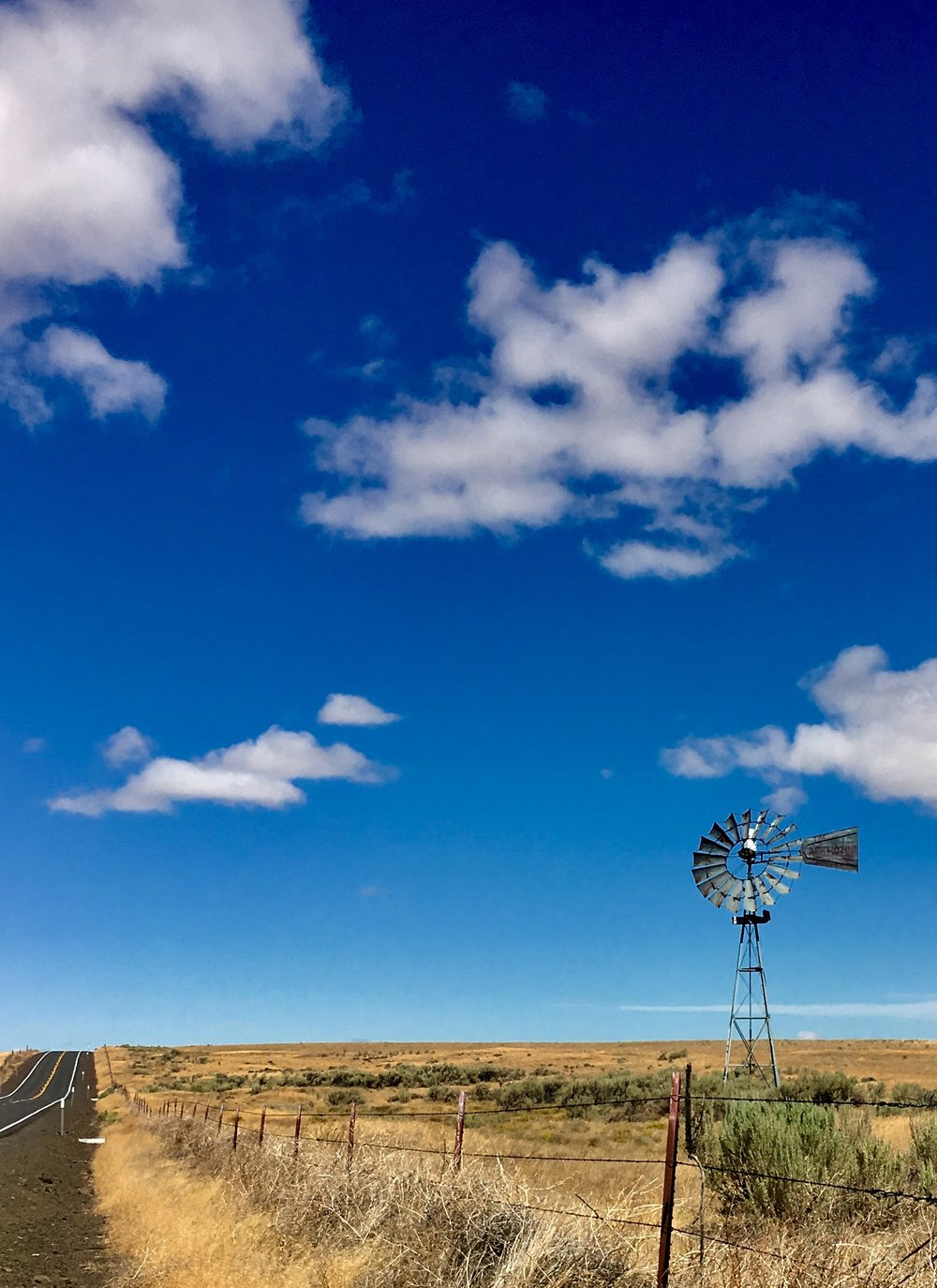 Wide open spaces of Central Oregon, if you see a Windmill most likely there was a home located on the site at one time.