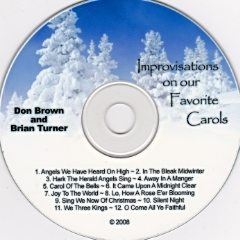 "Brian Turner & Don Brown              ""Improvisations On Our Favorite Carols"""