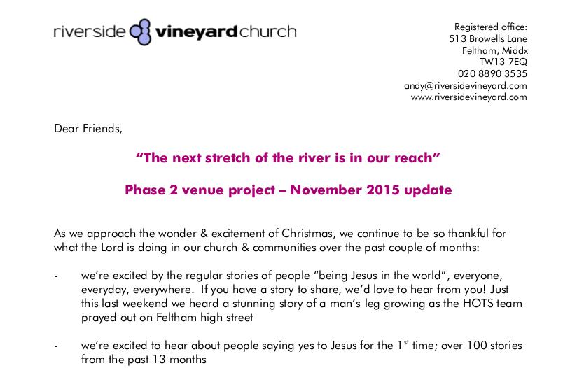 November 2015 Venue Update
