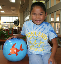 Make a Pumpkin Fish Bowl Abby from Oakland Elementary, Sugarland, TX, created this one.