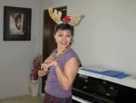 My sweet friend Barbara, the piano-deer!