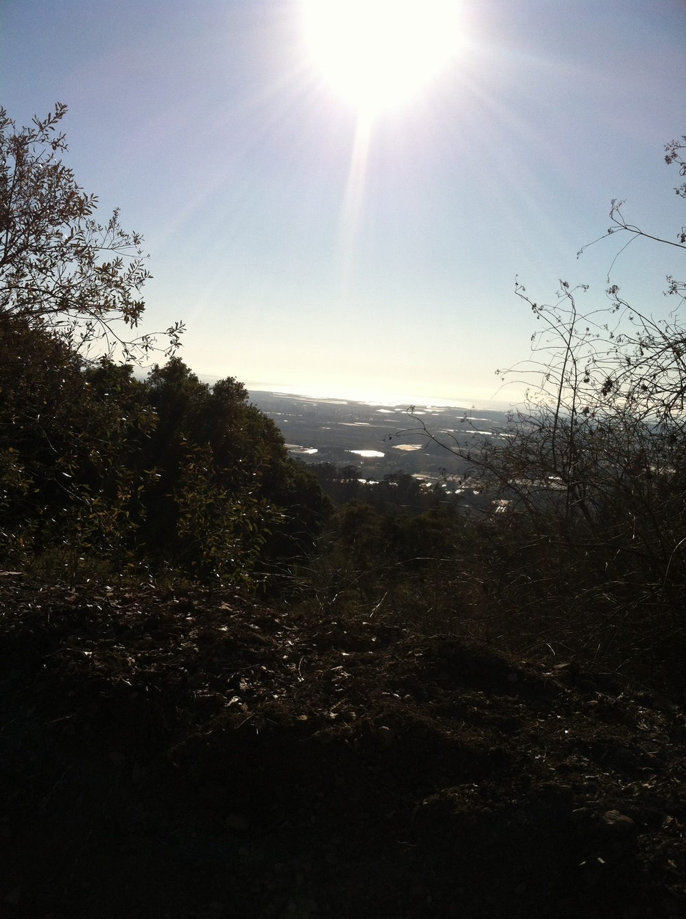 View of Watsonville and the Pacific from the top of Hecker Pass