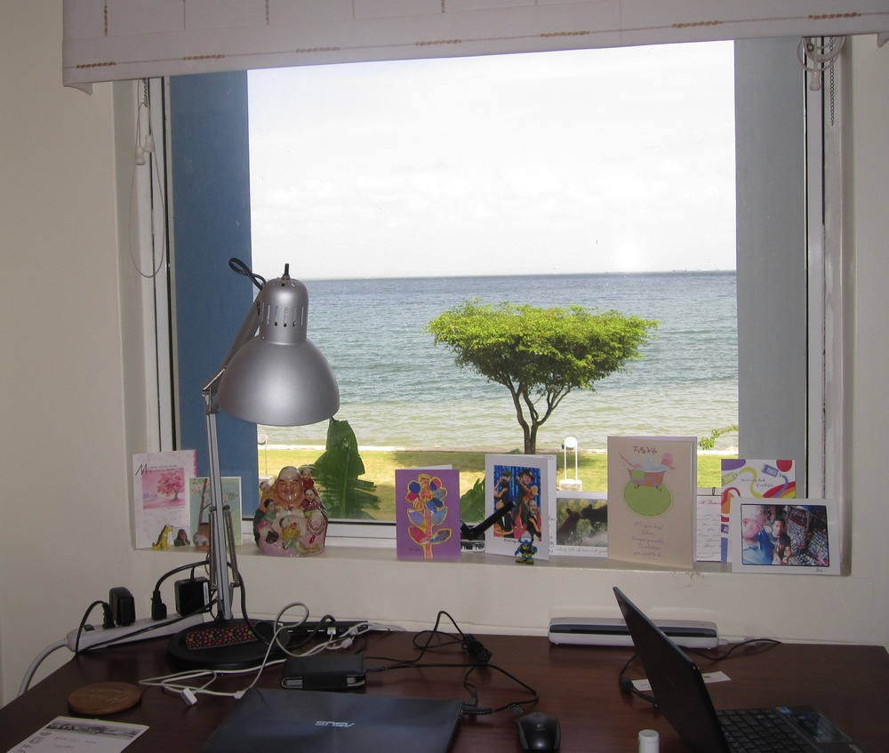 View from my desk in Trinidad, overlooking the Gulf of Paria