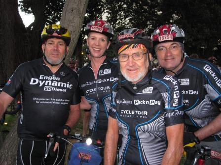 2011 Argus: Waiting at the Starting Line: Charles's cousin Robert, Kelly, Uncle John (76), & Curtis