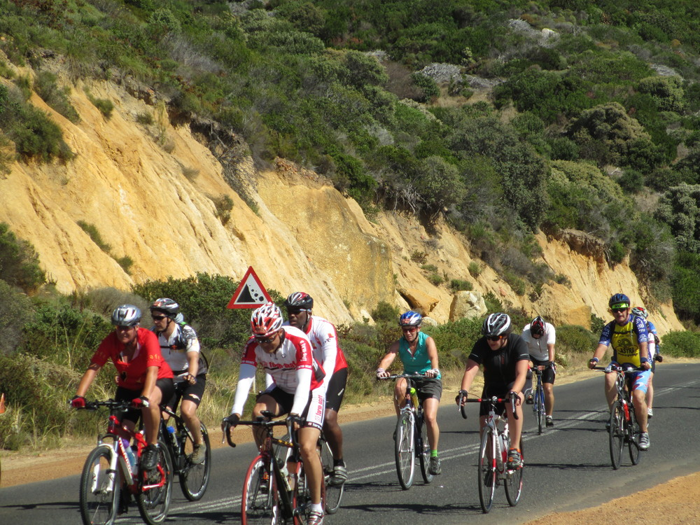Random Riders fighting up yet another long hill