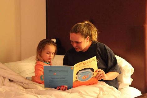 Thanks Valarie P. for this!  Bedtime Storytime with Amanda Sliepcevic and her daughter Arya