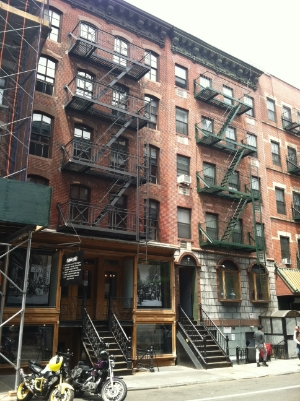 Note one, but two tours of the Tenement Museum, and walked the streets, and explored the gift shop . . .