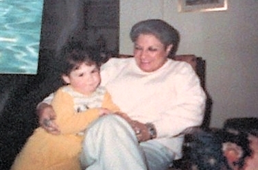 Grandma Lee never lived close by, but that never kept her from being close to Lexi & Max. This is in Phoenix 1985