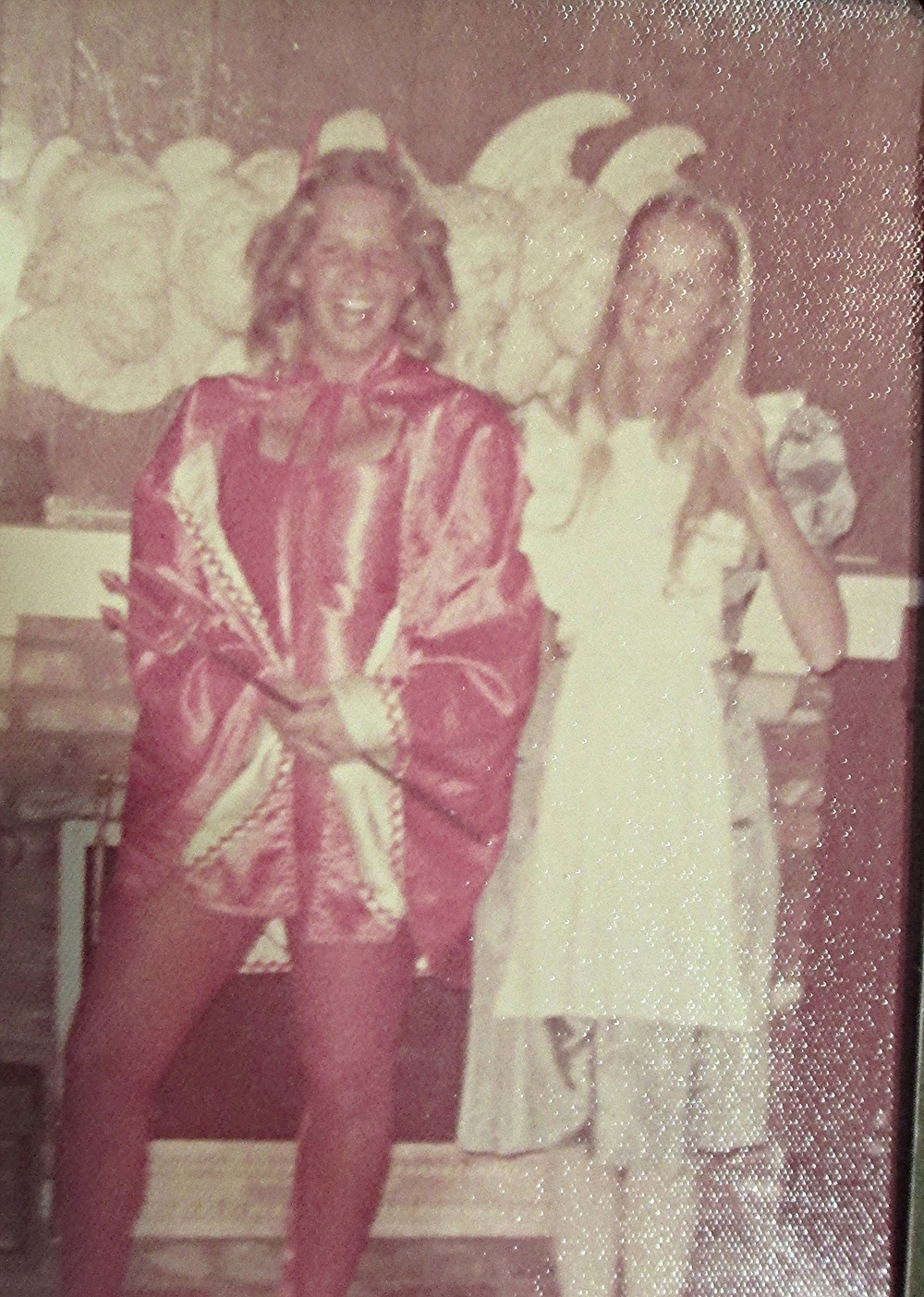 Halloween, Junior Year, my BF Valerie is Alice. Get what that leaves me? We were having too much fun to graduate!