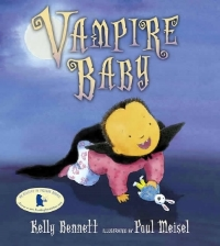 VAMPIRE BABY  is newly out from Candlewick.  To order books call (800) 733-3000 or visit their website:  www.candlewick.com .