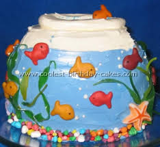 So many fun Goldfish birthday cakes on the internet. Norman wants one!