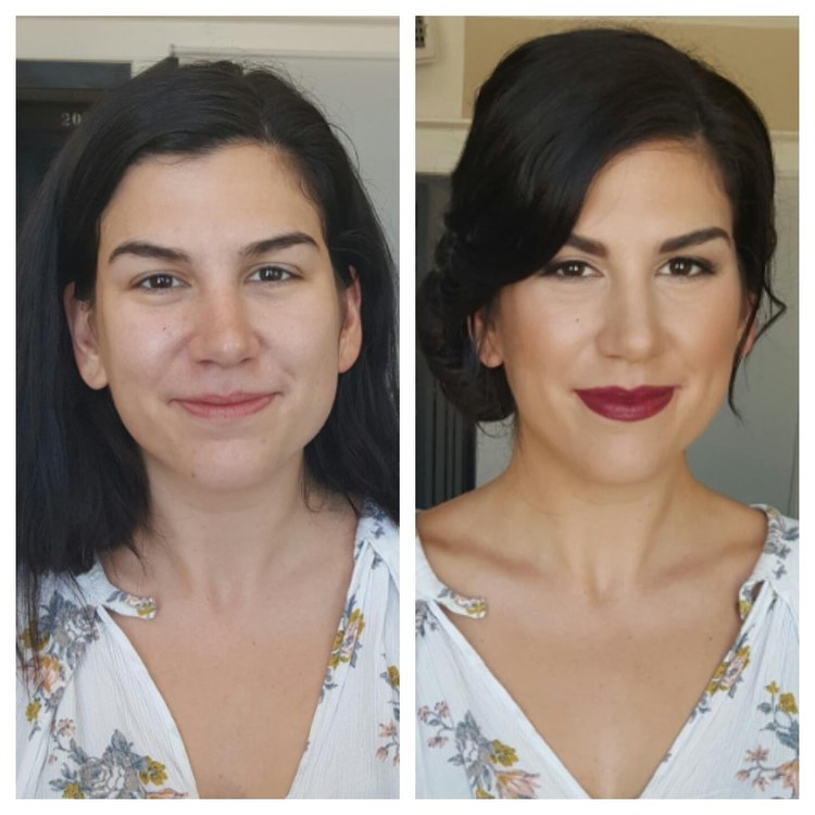 before and after erin blair makeup hair design