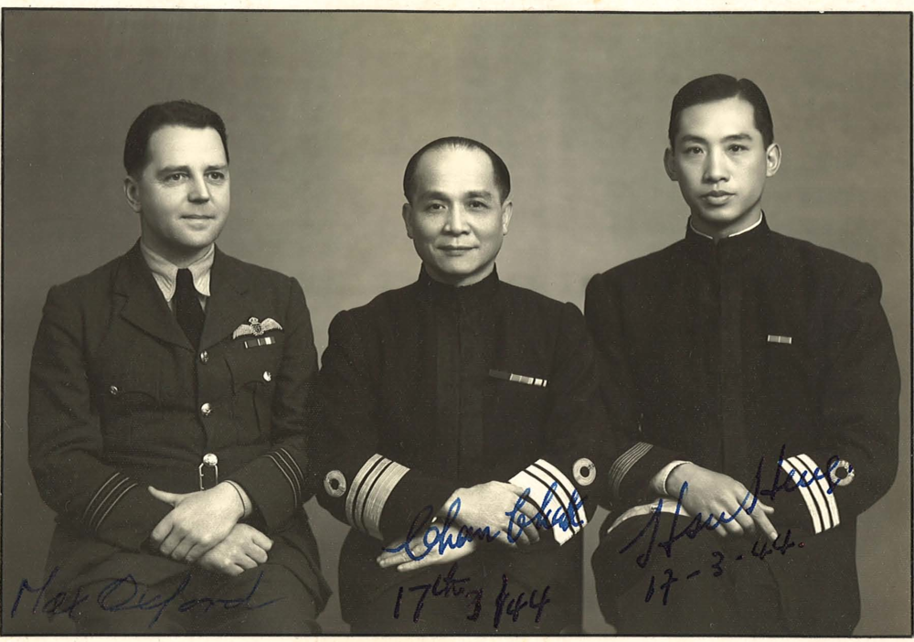 At Max's farewell lunch with Admiral Chan Chak and Henry Hsu, March 1944