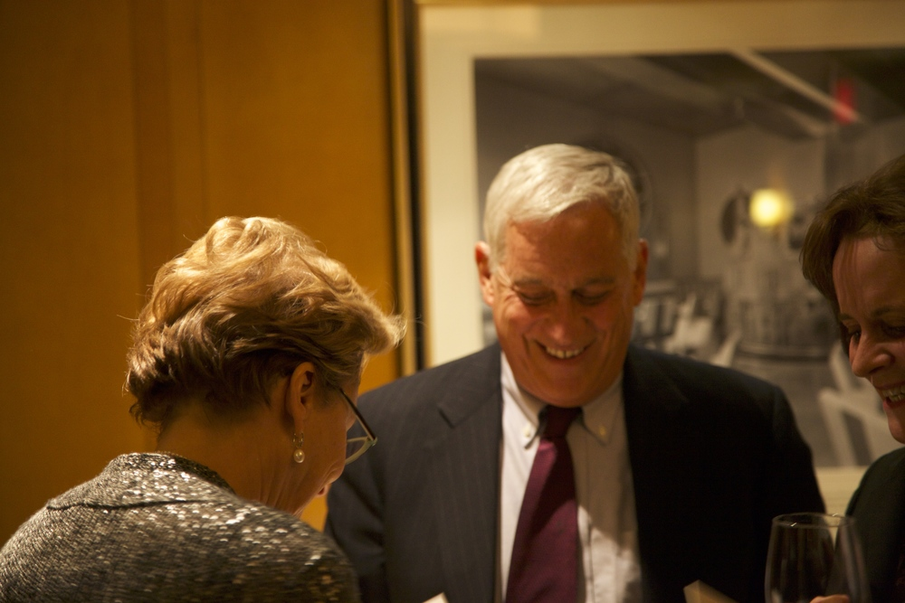 It was wonderful to see friends such as best-selling authors Walter Isaacson (pictured) and Evan Thomas.