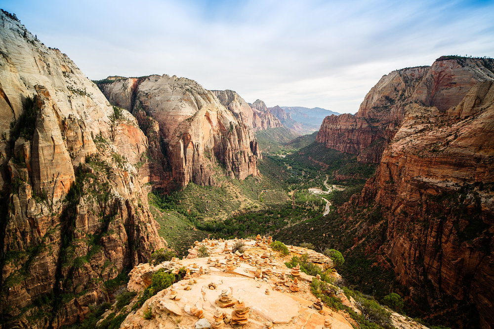 ANGEL'S LANDING AT ZION NATIONAL PARK IN UTAH