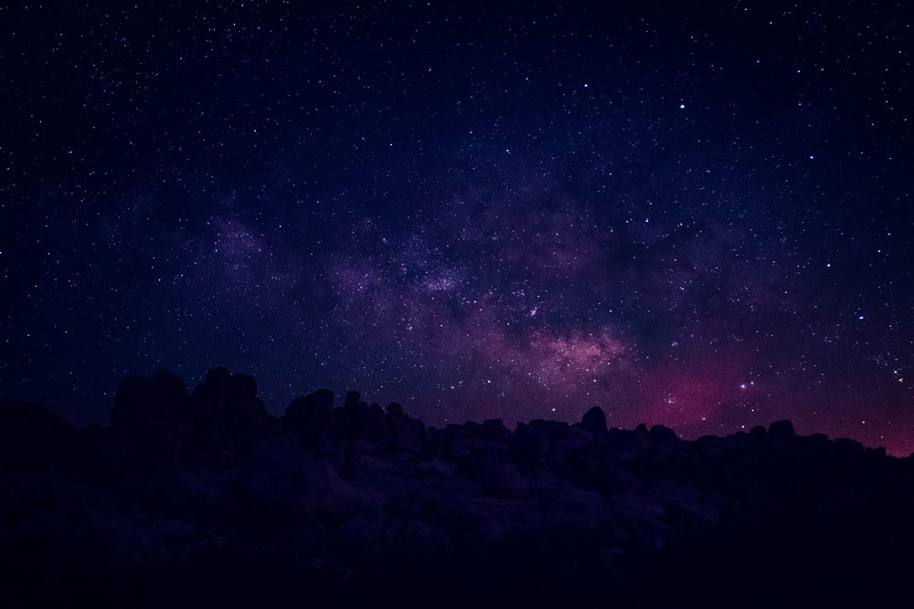 THE MILKY WAY AT JOSHUA TREE NATIONAL PARK