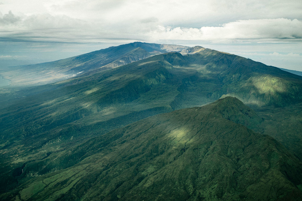 HALEAKALA NATIONAL PARK FROM THE AIR IN HAWAI'I