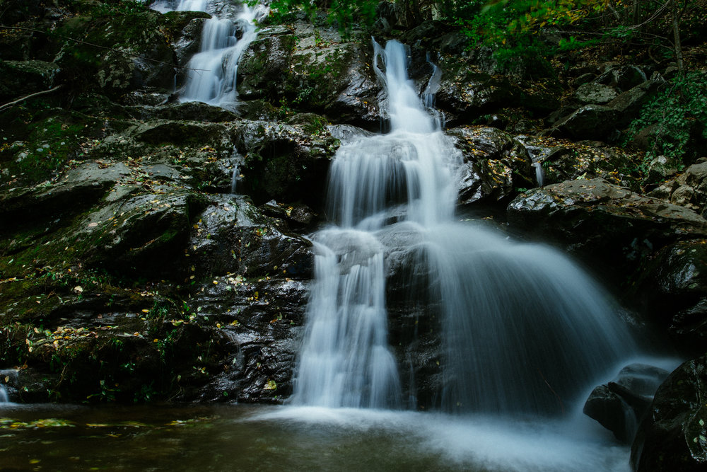 WATERFALL AT SHENANDOAH NATIONAL PARK