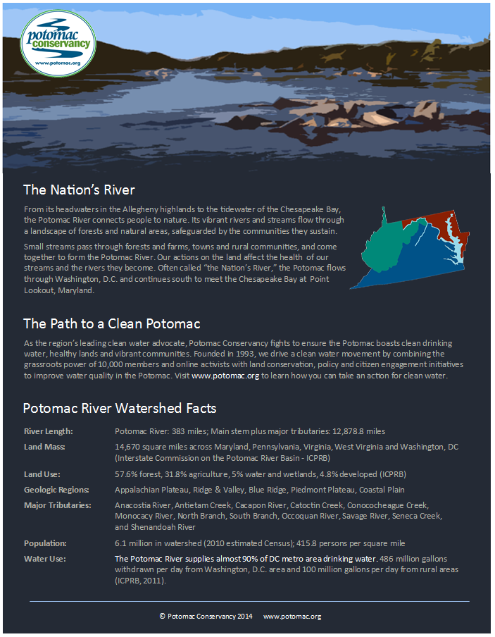 101 River Facts � Potomac Conservancy