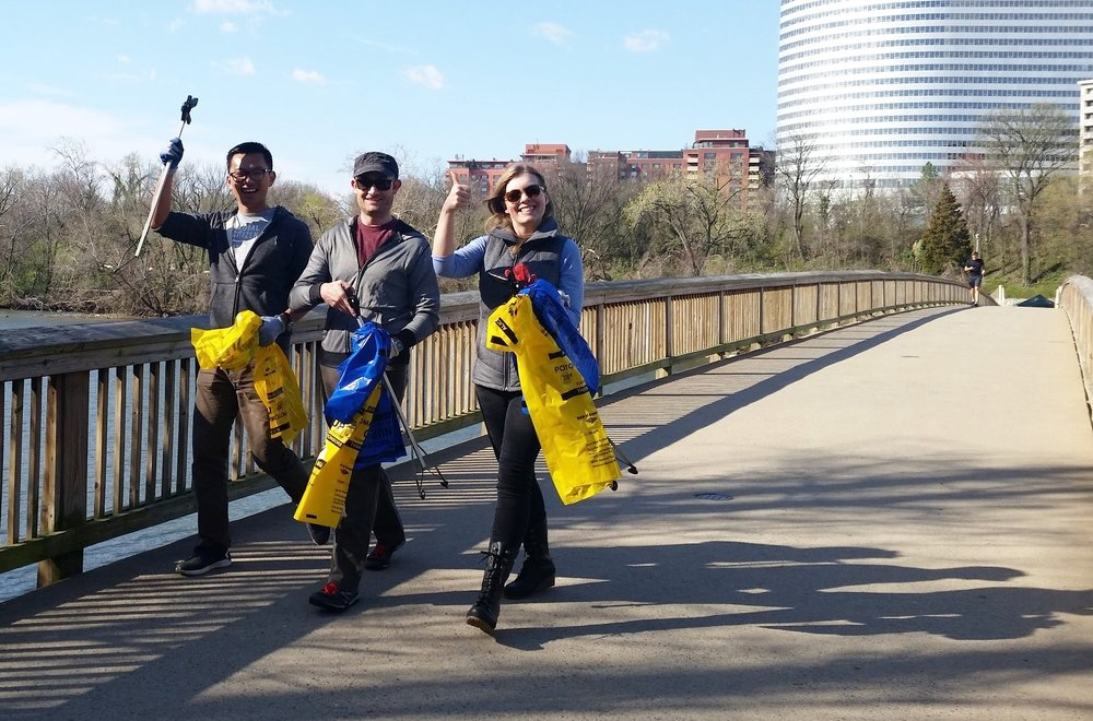 Potomac river volunteers at Theodore Roosevelt Island