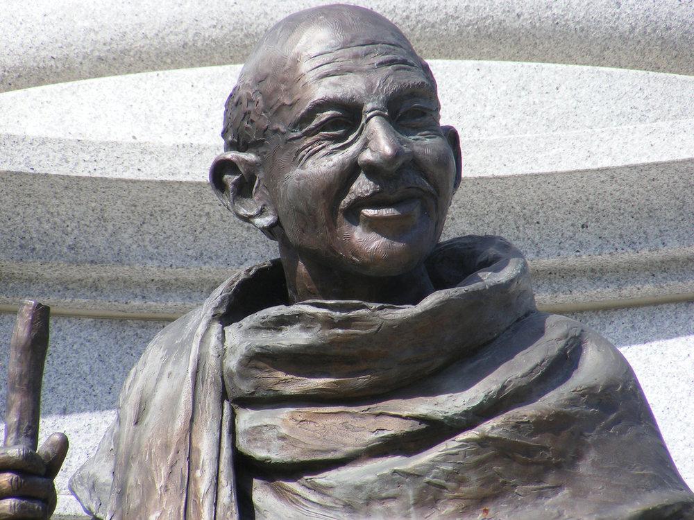Gandhi Statue Martin Luther King Memorial City Park Denver. photo courtesy of tom pratt via  flickr .