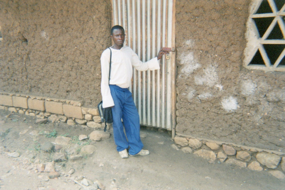 This photo shows that after I was freed from the armed group, I went directly back to school.