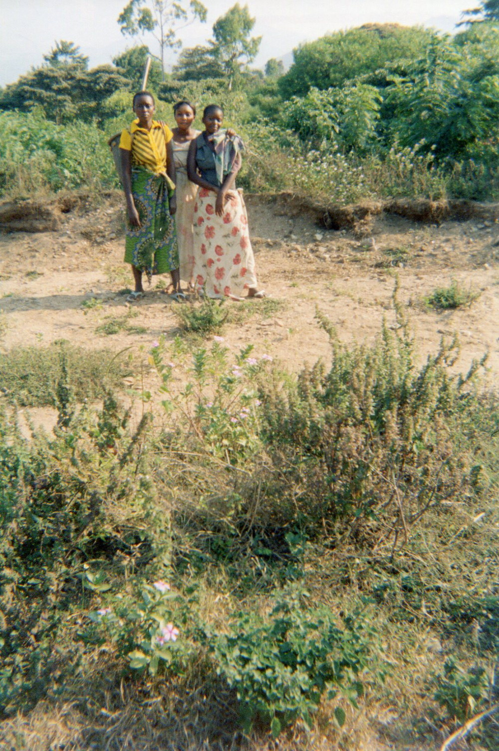 This photo shows some ex-combatants regretting the erosion of part of their field.