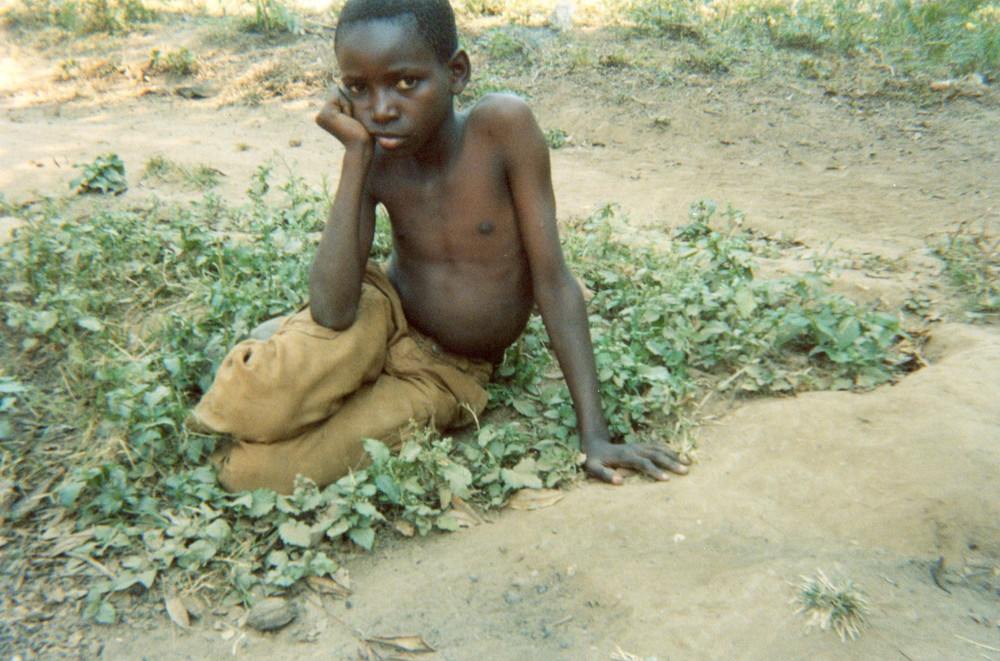 This child who is an orphan has no support or protection in their community.