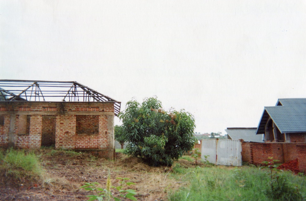 This unfinished house is the place where they raped a mother in front of her children.