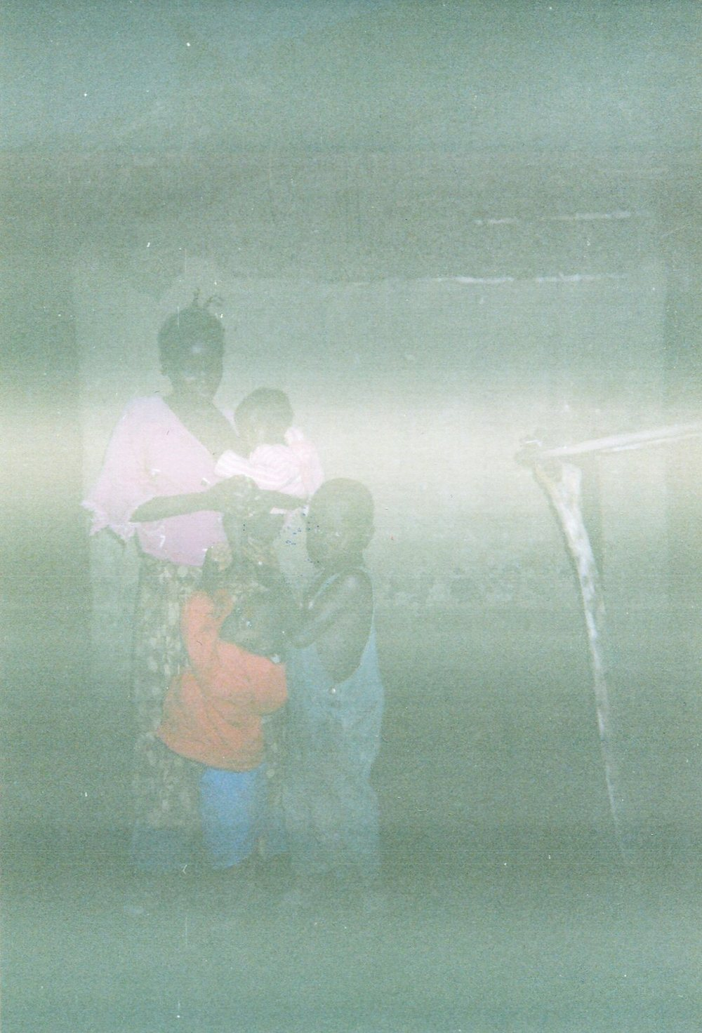 This photo of me and my children shows how we suffered without food and shelter. We continue to suffer until today.