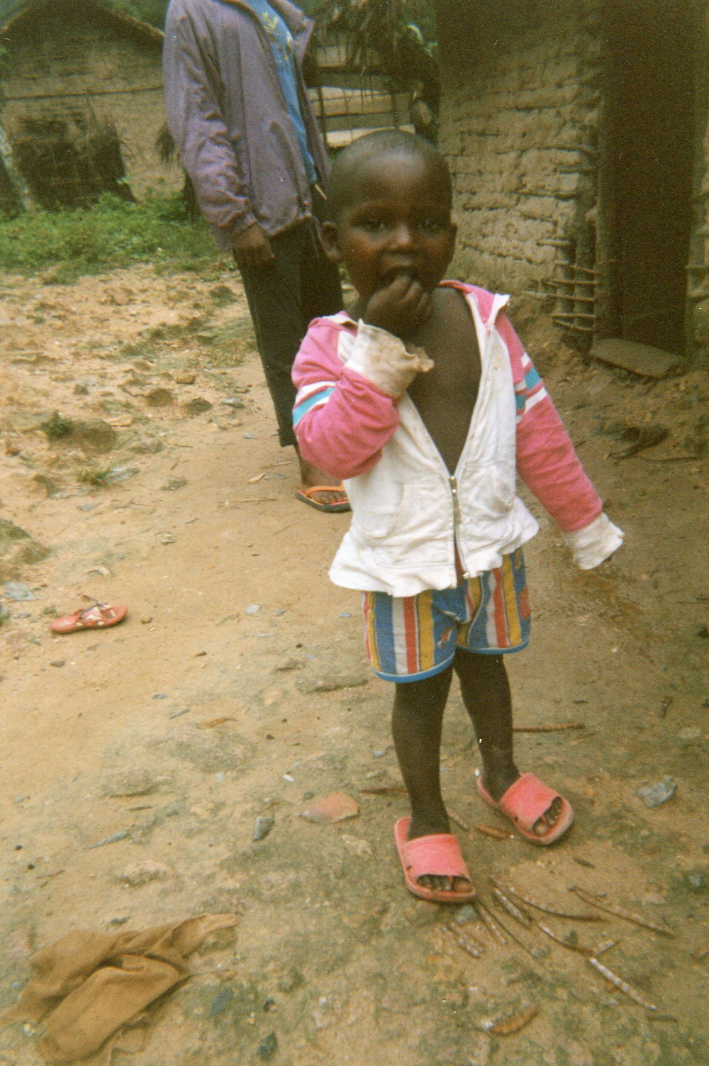 Seeing this child, it reminds me of my little brother who was killed by armed groups because I had integrated with the armed groups.