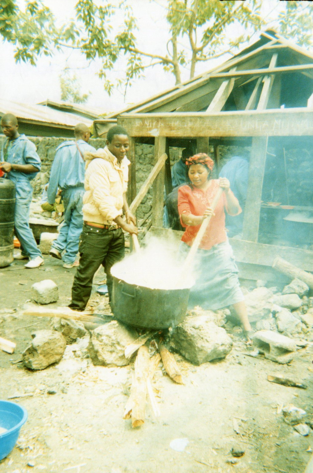 I am punished because of bad behavior and smoking (have  to cook and make ugali for the school).