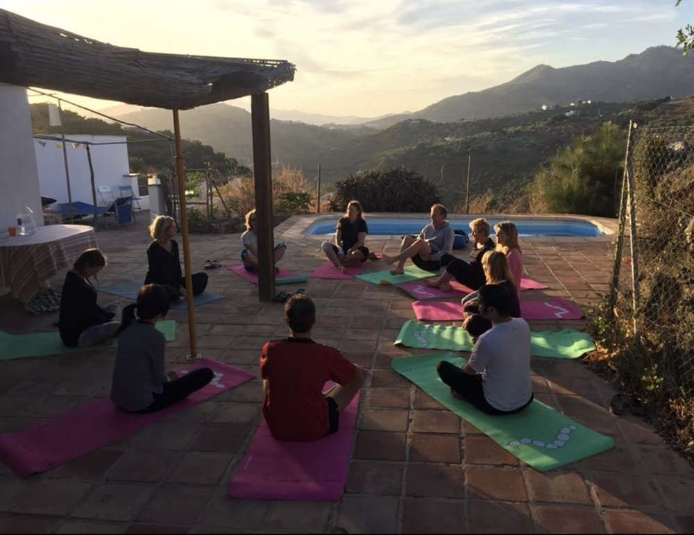 Sunrise session on our stunning yoga platform