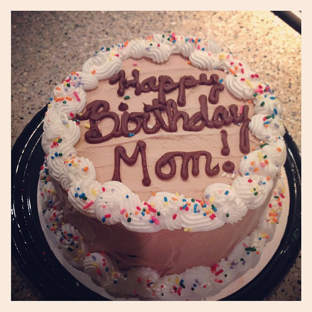 And for my birthday, Chris and Everett got me a Mom cake! It was ice cream and cake. So good.