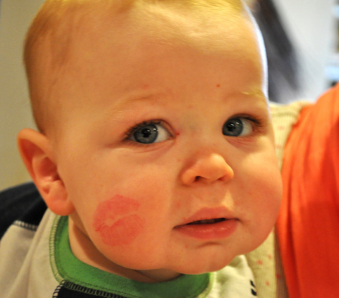 And, Aunt Katie made sure she got her smooches on him!