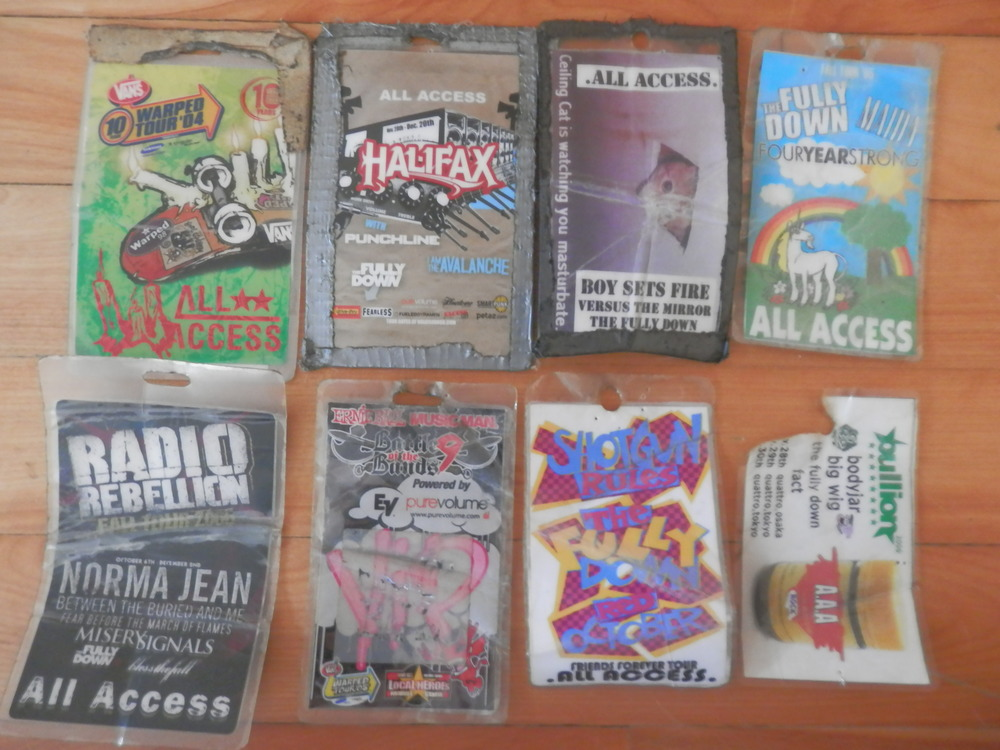 A few surviving tour passes