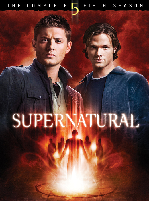 The cover of  Supernatural 's fifth season.