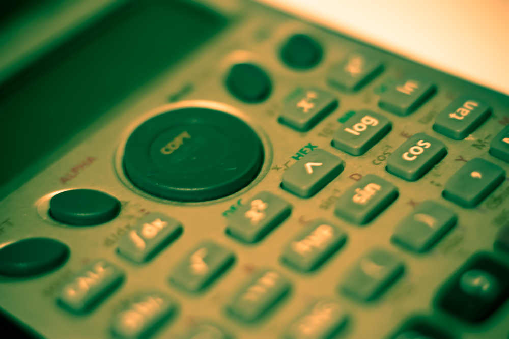 Calculators, like this one, are your friend! (Image courtesy of Stock Exchange.)