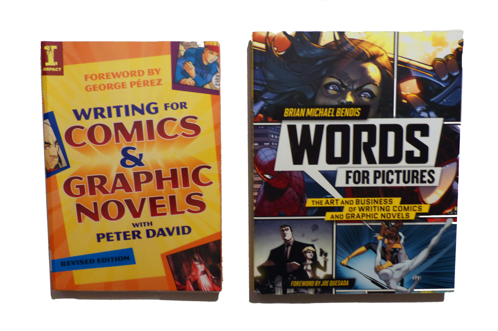 Two excellent sources for learning the art of comic book scripting I highly recommend. (Photo by Stephen Lowe)