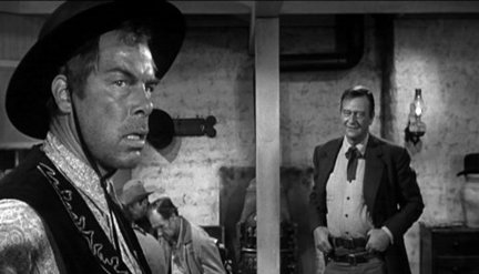 Lee Marvin and John Wayne in  The Man Who Shot Liberty Valance.  http://media.nj.com/oscar_awards/photo/libertyvalancejpg-b9cbccbf055fbcca_large.jpg