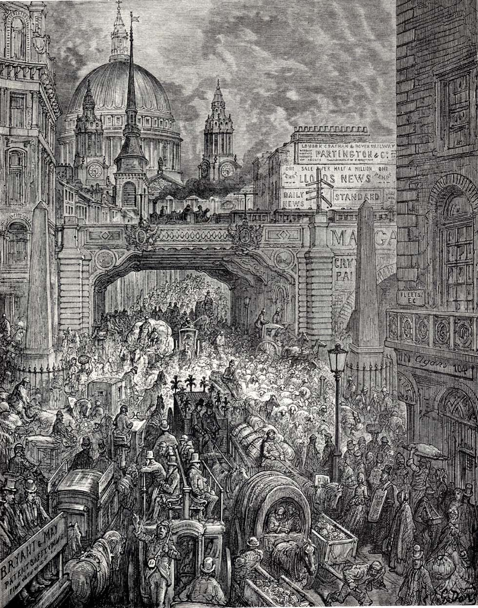 Ludgate Hill  BY gUSTAVE dORé