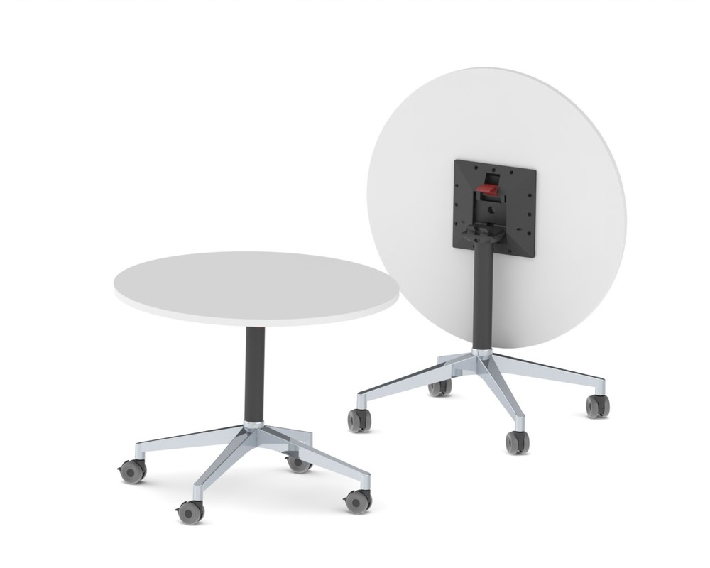 CN-1026.002  U.R. -4 Star - Folding Table - 300 x 300mm Adaptor - Castors - Black Texture - Complete.JPG
