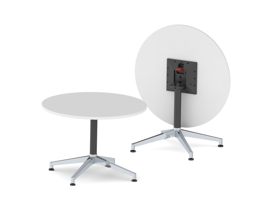 CN-1025.002  U.R. -4 Star - Folding Table - 300 x 300mm Adaptor - Glides - Black Texture - Complete.JPG