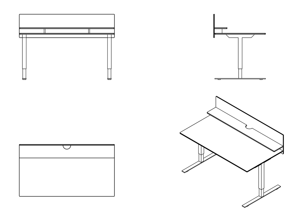 UT height adjustable desk