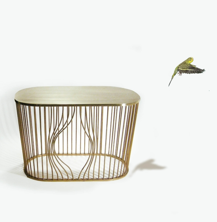 Bye bye bird. Prototype of sofa table by Runa Klock.
