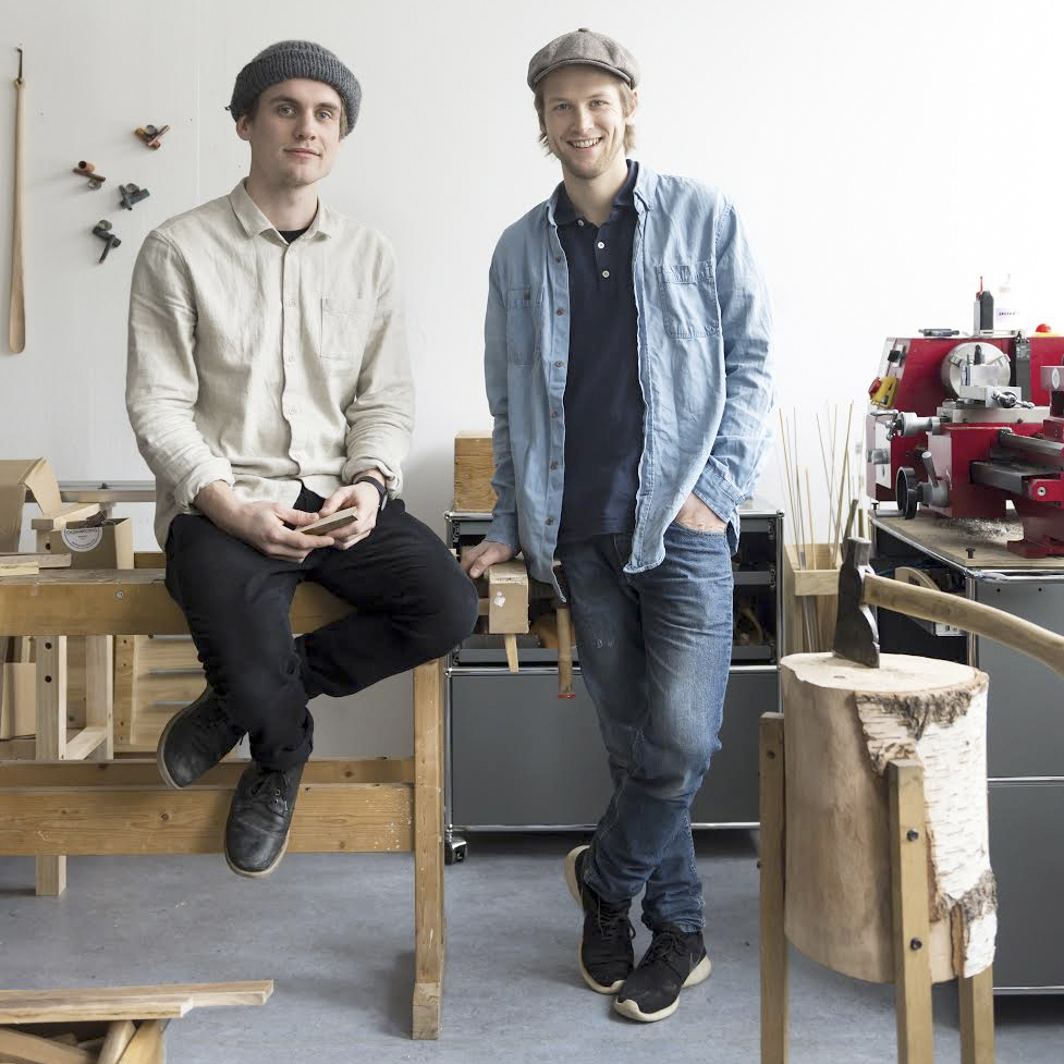 Stian Korntved Ruud & Jørgen Platou Willumsen in their studio at Carl Berner in Oslo.